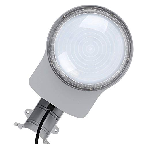 LEONLITE 75W LED Dusk to Dawn Barn Light, 8000lm Outdoor Floodlight with Photocell, DLC & ETL Listed, IP65 Waterproof, 600W Equivalent, for Farm, Yard, Garage, 5000K Daylight, Silver by LEONLITE (Image #2)