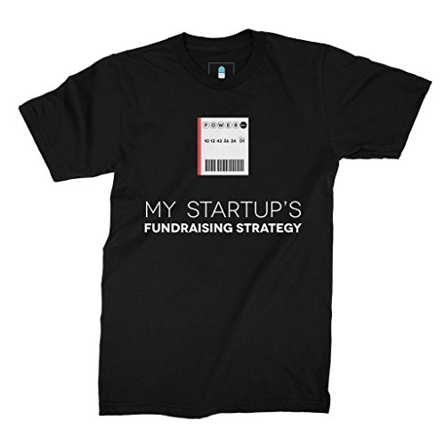 Price comparison product image Startup Drugz My Startup's Fundraising Strategy AKA The Powerball Tee Male T-Shirts 2XL Black