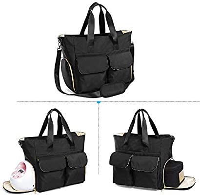 Teamoy Breast Pump Bag Compatible For Spectra S1 S2 Medela And Cooler Bag Breast Pump Storage Tote With Laptop Sleeve Up To 14 For Working Moms Black Ty09103 Buy Online At Best
