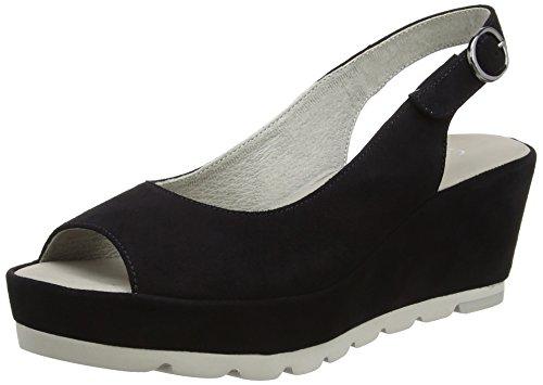 Gabor Shoes Fashion, Sandalias con Cuña para Mujer Azul (pazifik 16)