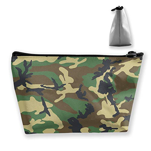 Makeup Bag Cosmetic Camouflage Med Portable Cosmetic Bag Mobile Trapezoidal Storage Bag Travel Bags with Zipper]()