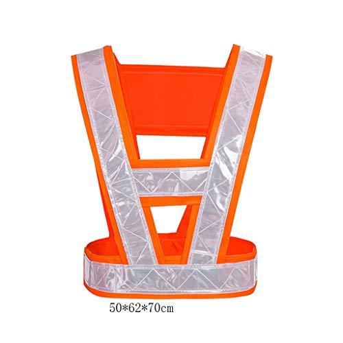 AiLi Chaleco Reflectante de Seguridad en Forma de V Vestimenta de Seguridad para el tránsito Chalecos Reflectantes de Alta...