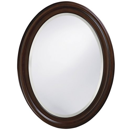 Howard Elliott 40110 George Oval Mirror, Chocolate - Brown Mirror