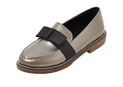 Shoes Solid Pull Low Women's Gray On WeenFashion Pumps Heels Leather Patent Cz7cwqZ