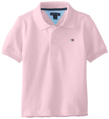 Tommy Hilfiger Boys 2-7 Ivy Polo Shirt Spring, Cotton Candy, 4