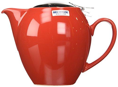 BBN03 Red Beehouse Teapot 22 oz