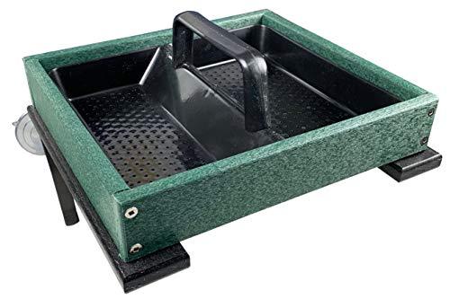 - JCs Wildlife Easy Clean Green Poly Window-Mount Platform Bird Feeder USA Made