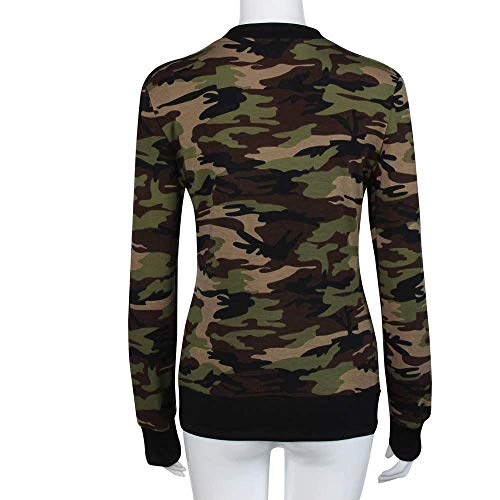 Lunghe Donna Con Costume Libero Militare Army Primaverile Cerniera Autunno Outerwear Giubbino Giacche Tempo Camuffare Elegante Giacca Maniche Grün Moda Coat 76zqZwr7