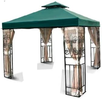 MTN Gearsmith New 10'x10' 2-Tiered Replacement Garden Gazebo Canopy Top Sun Shade