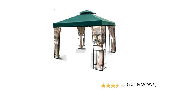 MTN Gearsmith Nuevo 10 x10 de Repuesto (2 Pisos jardín Gazebo toldo Superior Sun Shade – Beige Marfil Verde Borgoña Marrón: Amazon.es: Jardín