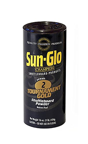 Sun-Glo #2 Speed Tournament Gold Shuffleboard Powder Wax - 24 lbs. by Sun-Glo