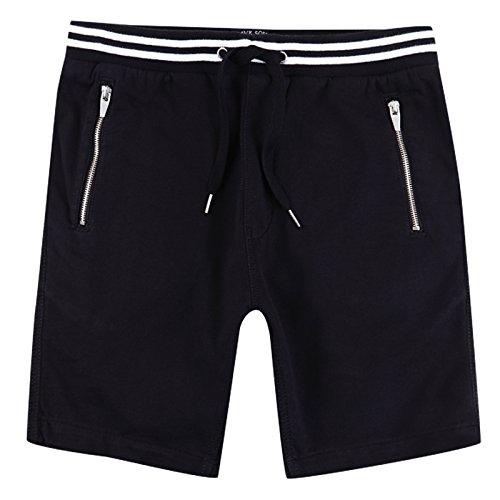 - Brave Soul Johnson Mens Cotton Twill Shorts Black - Small