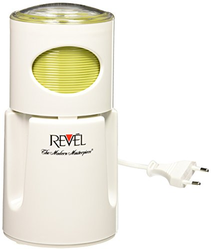 Revel CCM104 White Wet and Dry Coffee Spice Grinder, 220 Volts (Not for USA - European Cord)