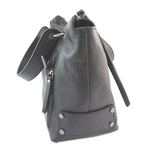 Bolso de cuero 'Gianni Conti'negro - 27x23x12.5 cm.