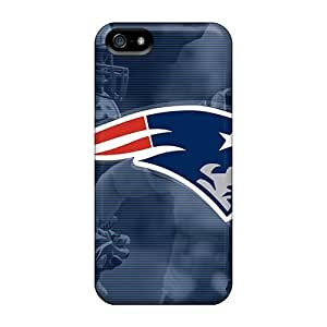 L.M.CASE Scratch-free Phone Case For Iphone 5/5s- Retail Packaging - New England Patriots
