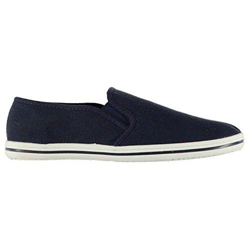 Slazenger Niños Zapatos Ligeros Casuales de Lienzo Slip On Navy