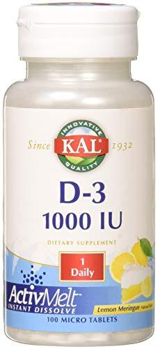 Kal 1000 Iu D-3 Tablets, Lemon, 100 Count For Sale