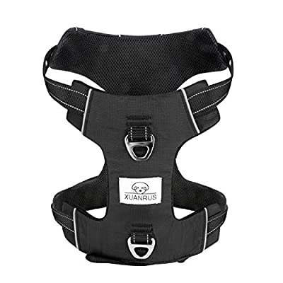 Adjustable Dog Harness No Pull Reflective Cooling Pet Vest with Handle High Visibility Reinforced Straps Easy Control Harness for Large Dogs Training Walking Hiking