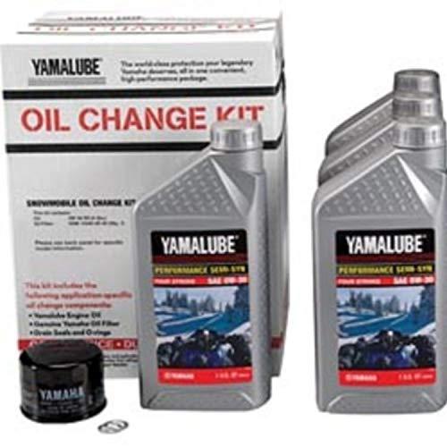 Yamalube Snowmobile Oil Change Kit 2 & 3 Cyl SS 1 Kt (0W30 SS Qty4) LUB-SMBCG-KT-01 by Yamaha (Image #1)