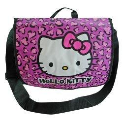 Hello Kitty Leopard Print Messenger Bag Pink - Hello Kitty Leopard Print