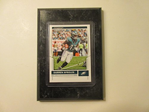 "Darren Sproles Philadelphia Eagles 2017 Panini 2017 NFL score card mounted on a 4"" x 6"" black marble plaque"