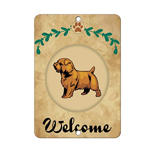 Aluminum Metal Sign Funny Welcome Norfolk Terrier Dog Informative Novelty Wall Art Vertical 8INx12IN - Norfolk Vertical Wall