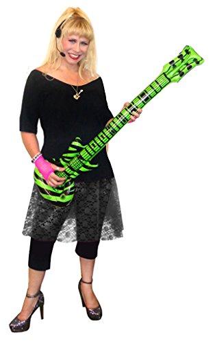 Rocker Chick Black Lace Plus Size Supersize Halloween Costume Deluxe Kit -