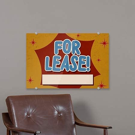 5-Pack CGSignLab for Lease 18x12 Nostalgia Burst Premium Brushed Aluminum Sign