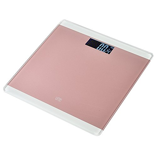UMEI Digital Body Weight Bathroom Scale, 400lbs LED Display Step-On Technology Tempered Glass Balance Platform (Pink)