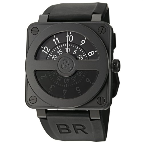 Bell-Ross-Mens-BR01-92COMPASS-Aviation-Stainless-Steel-Watch-with-Black-Rubber-Strap