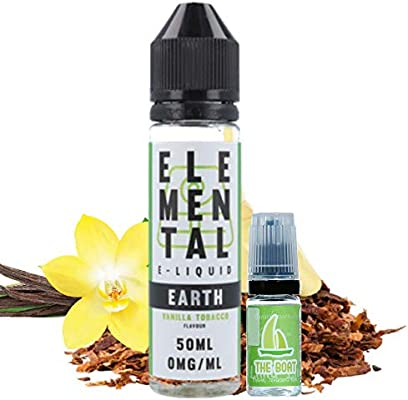 E Liquid Elemental Earth (Vanilla Tobacco) 50ml - 70vg 30pg- booster short fill + E Liquid The Boat 10 ml lima limón ...