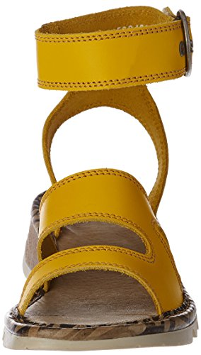 FLYA4 #Fly London Tily722fly, Heels Sandals para Mujer Amarillo (Lemon 007)