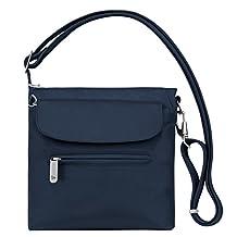 Travelon Anti-Theft Classic Mini Shoulder Bag, One Size, Midnight