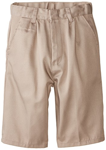 (6114) Genuine School Uniforms Boys Pleated Front Short (Sizes 4-16) in Khaki Size: - School Uniform Boys Pleated Shorts