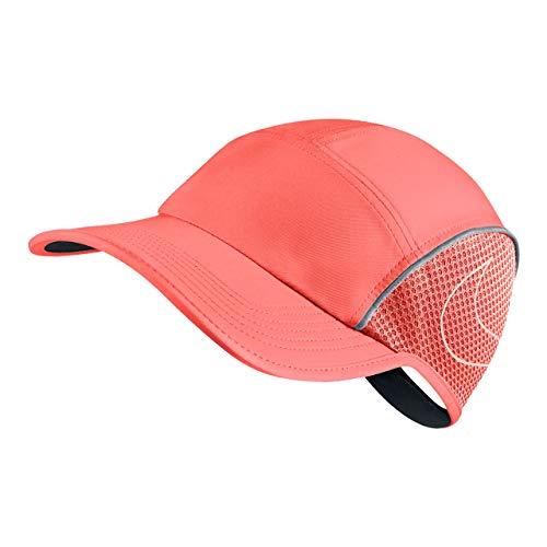 Nike Retro Hat - NIKE Women's AeroBill Running Cap (One Size, Crimson Pulse)