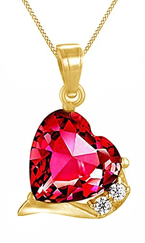 July-Birthstone-Red-Ruby-and-White-Natural-Diamond-Heart-Pendant-with-chain-in-14k-Gold-Over-Sterling-Silver-606-Ct