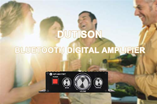 513f19a97be6bf DUTISON HiFi Audio Mini Amplifier - Bluetooth 4.2 Digital 2 Channel 60W  Home Stereo Power Amplifiers