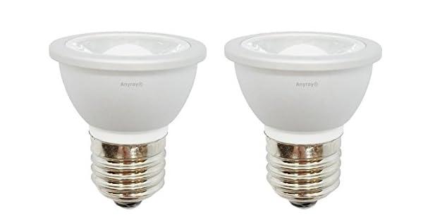 Amazon.com: 2-LED Bombillas HR16 120 V E27 MR-16 JDR C ...