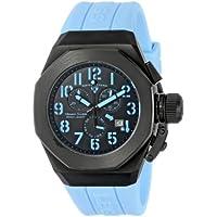 Swiss Legend Men's 10542-BB-01-BBLA Trimix Diver Chronograph Black Dial Light Blue Silicone Watch