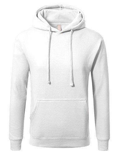 JD Apparel Men's Premium Heavyweight Pullover Hoodie Sweatshirt XL White ()