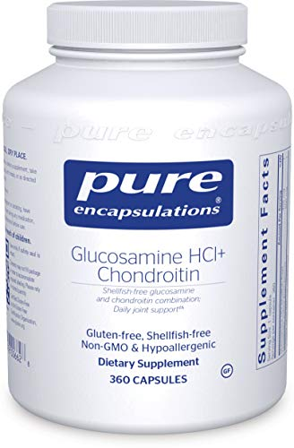 Pure Encapsulations - Glucosamine HCl Chondroitin - Hypoallergenic Dual-Strength Support for Healthy Joint Motility and Function* - 360 Capsules