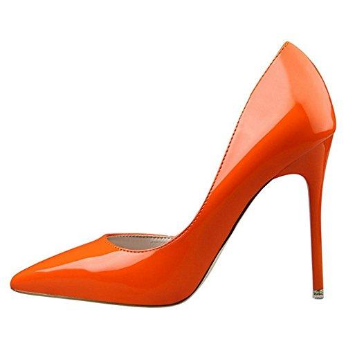 Tacco Scarpe Orange con D'orsay Donna RAZAMAZA Rwpqz7vp