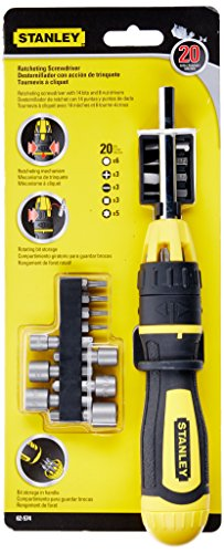 Stanley 62-574 Multibit Ratcheting Screwdriver Set, Pack of 20