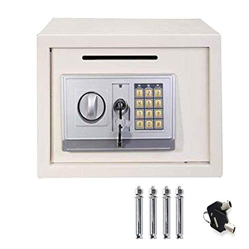 16L Digital Steel Safety Box Safe Electronic Security Coffer Safety Deposit Box 2 Manual Override Keys-Protect Money…