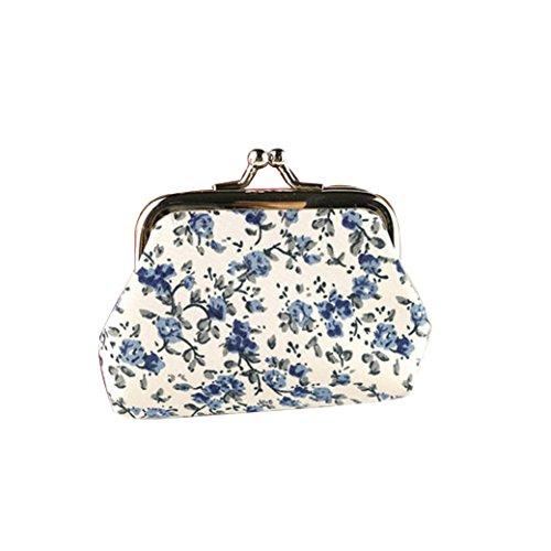 Caliente Morwind Mujer dama retro vintage flor pequeña billetera cerrojo bolso bolsa de embrague