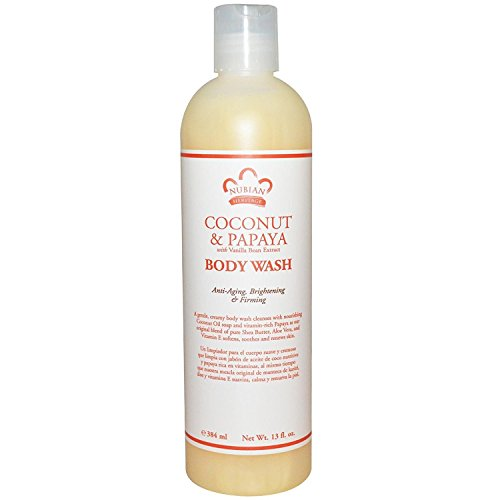 Nubian Heritage Coconut and Papaya Body Wash (3 pack)