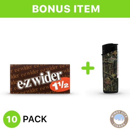 EZ Wider Rolling Paper - 1 1/2 (10) with Free LED Lighter ()