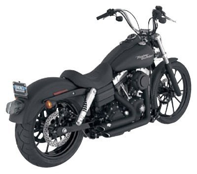 Vance And Hines Shortshots Staggered Exhaust System For Harley Davidson FXD Dyna Super Glide 2007-2010 / FXDB Street Bob/FXDC Super Glide Custom 2007-2011 / FXDBI Street Bob/FXDCI Super Glide Custom/FXDI Dyna Super Glide/FXDI35 Dyna 35th Anniversary ()