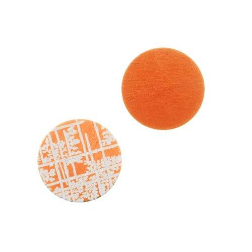 Circle Stamping Orange W/ Bamboo Pattern 16mm (2) (Lillypilly Aluminum Circle)
