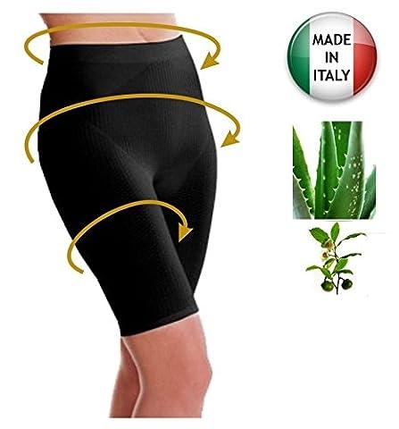 Slimming anti-cellulite shorts with Aloe Vera+Green tea - Black size XXL